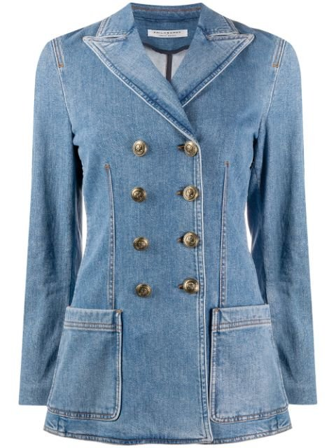 Philosophy Di Lorenzo Serafini Denim double-breasted Blazer - Farfetch