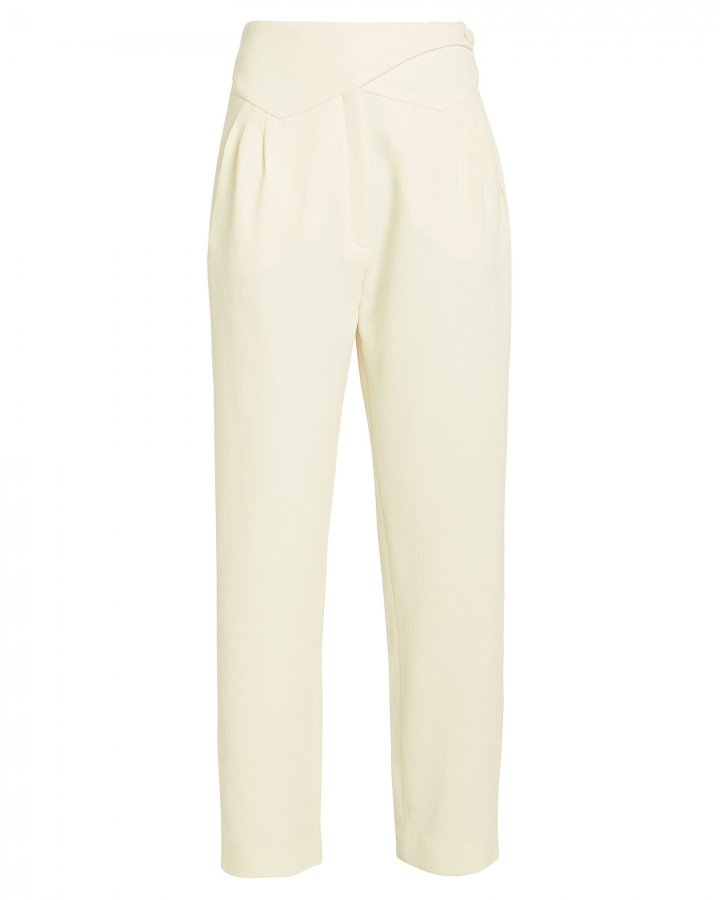 Basque Wool High-Rise Trousers