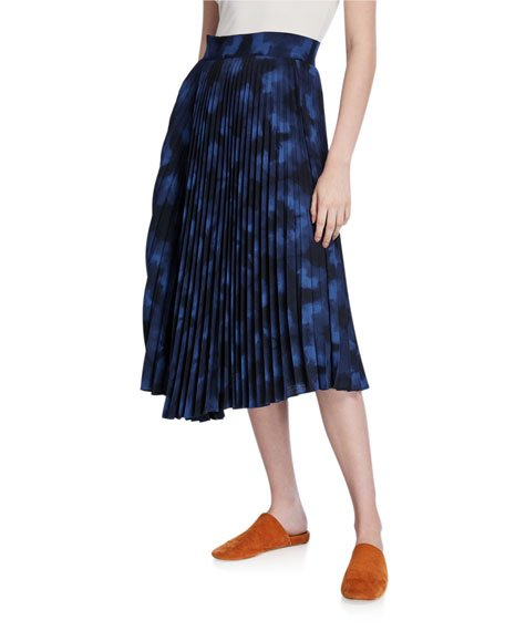 Winter Tie Dye Pleated Skirt