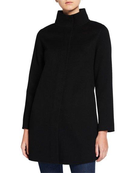 Double-Face Cashmere High-Neck Coat