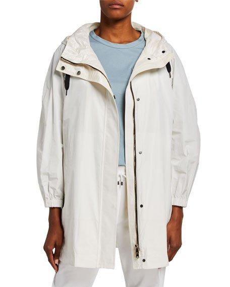 Taffeta Anorak Coat