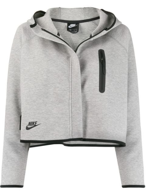 Nike Tech Fleece Cropped Hooded Jacket - Farfetch