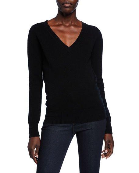 Basic Cashmere V-Neck Sweater