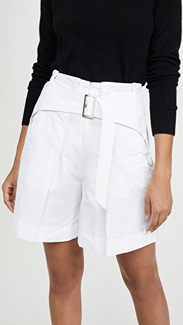 Utility Belted High Waist Shorts