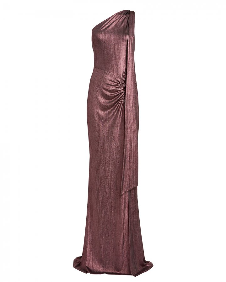 Attention Seeker One-Shoulder Gown