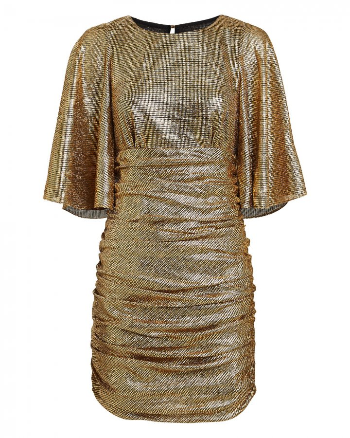 Cleo Ruched Metallic Mini Dress
