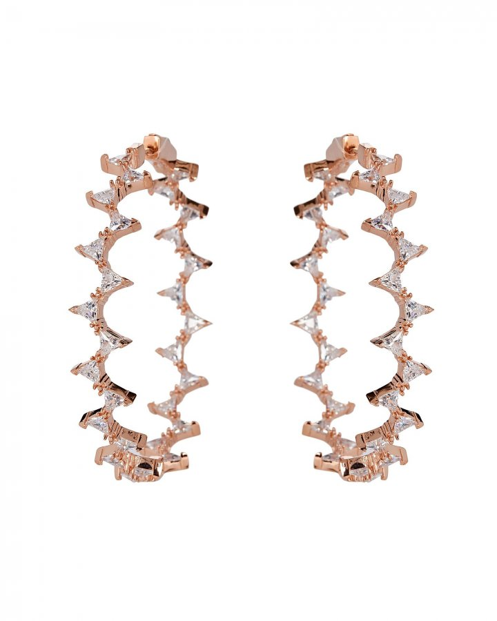 Rachel Crystal Hoop Earrings