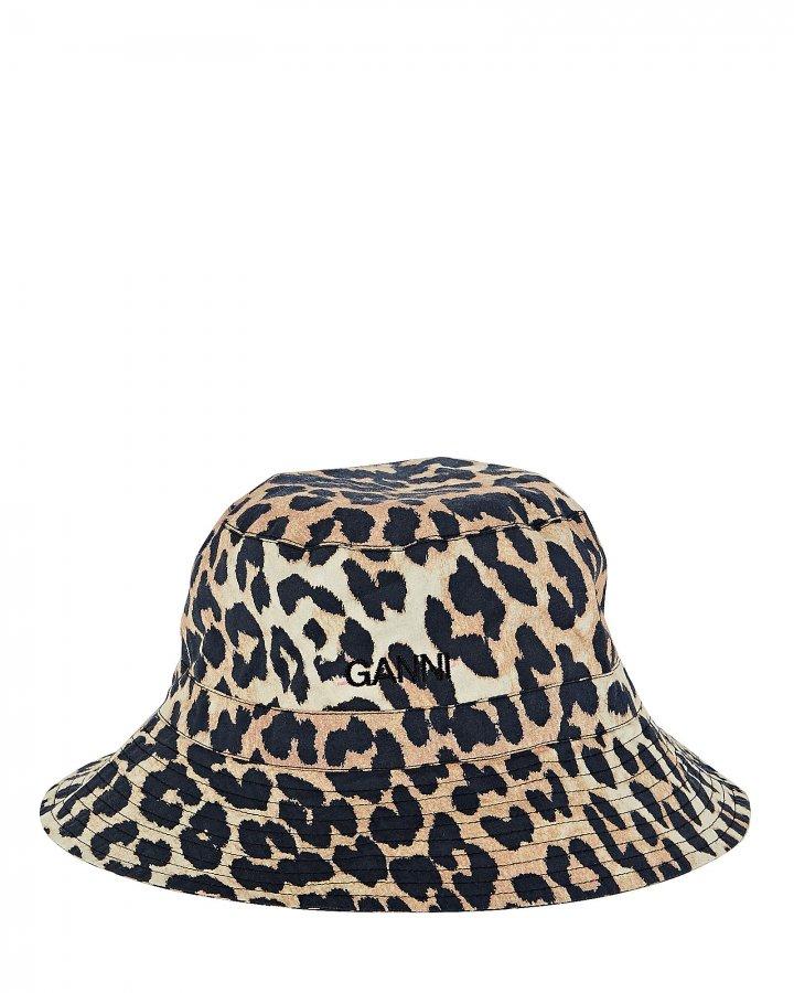 Leopard Poplin Bucket Hat