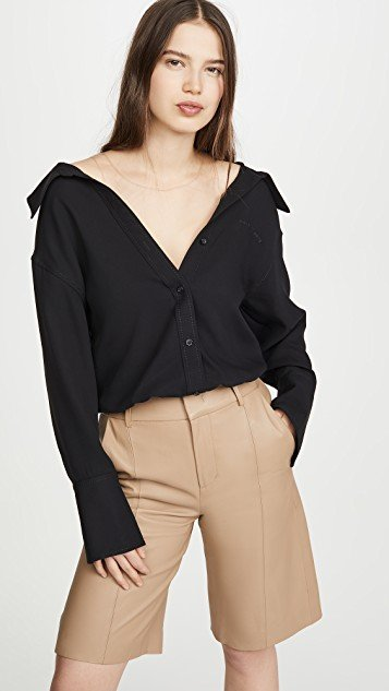 Falling Shoulder Blouse