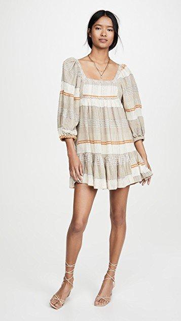 Cozy Striped Mini Dress
