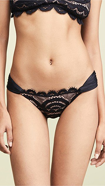 Lace Fanned Bikini Bottoms