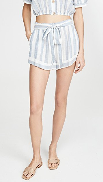 Umbrella Stripe Edu Shorts