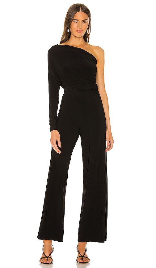 Tie Front All In One Strapless Jumpsuit