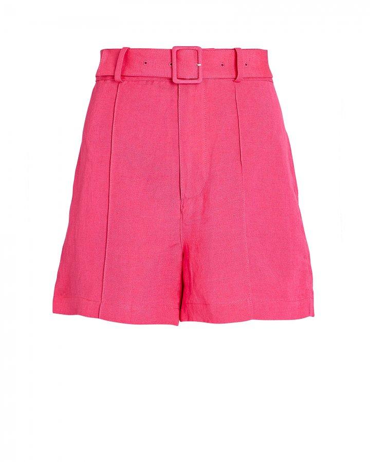 Tailored Linen-Blend Shorts