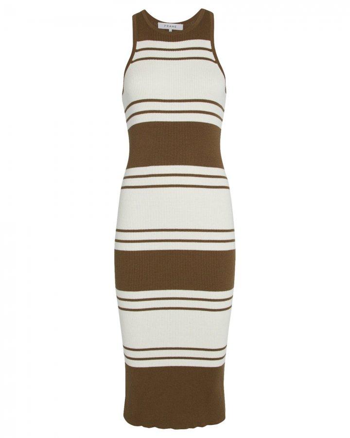 Striped Rib Knit Dress