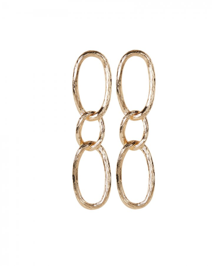 Textured Link Earrings