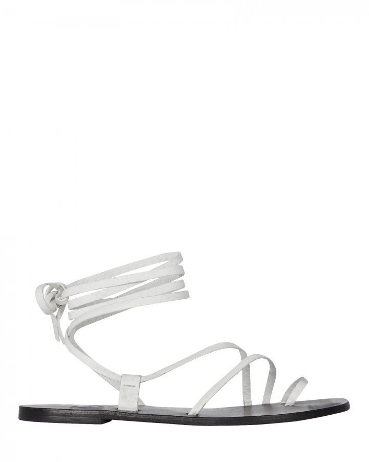 Beau Ankle Tie Leather Sandals