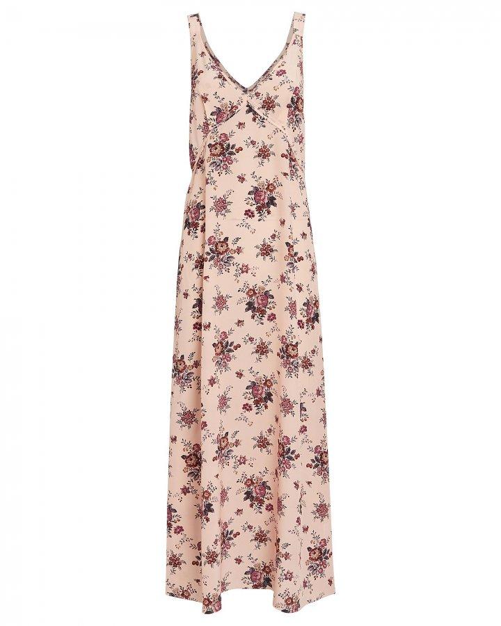 Floral Silk Slip Dress