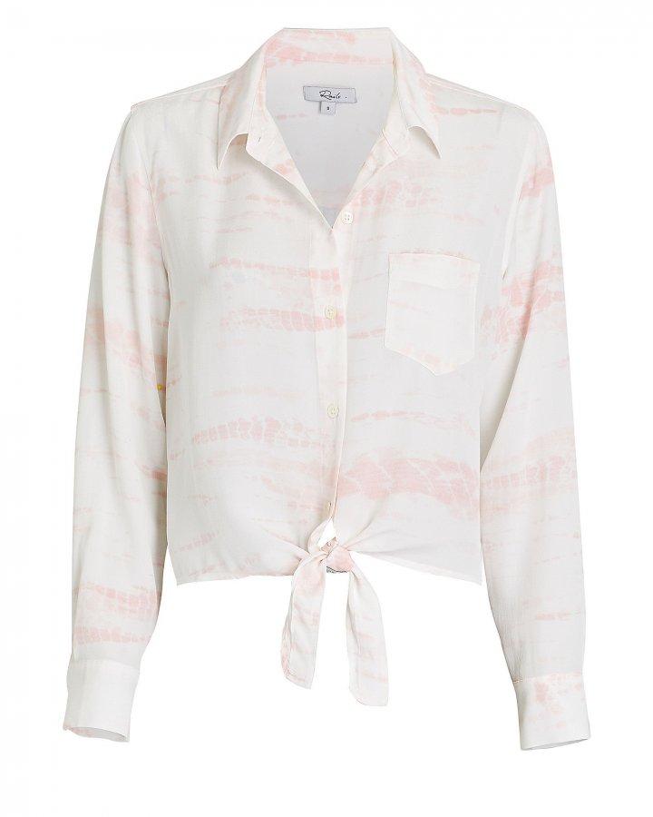 Val Tie-Dye Silk Button Down