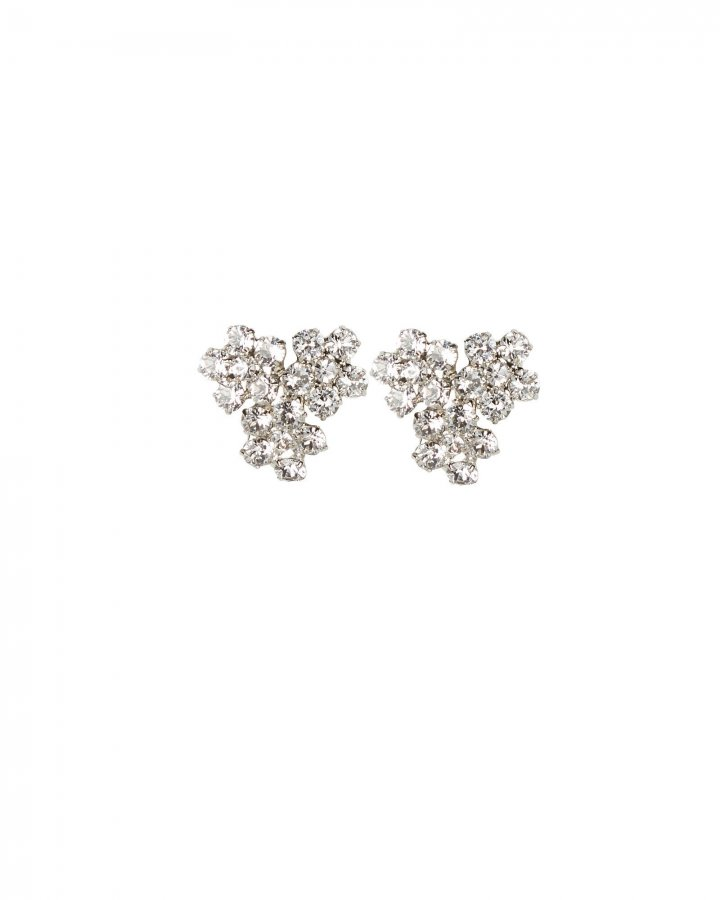 Violet Cluster Crystal Stud Earrings