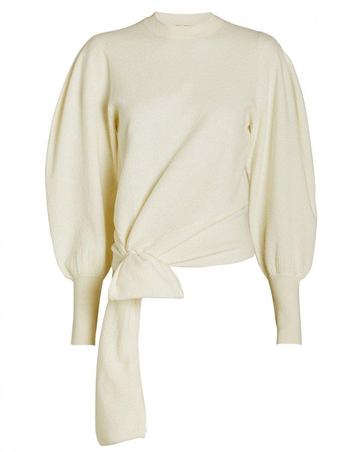 Tatiana Merino Wool Tie Waist Sweater