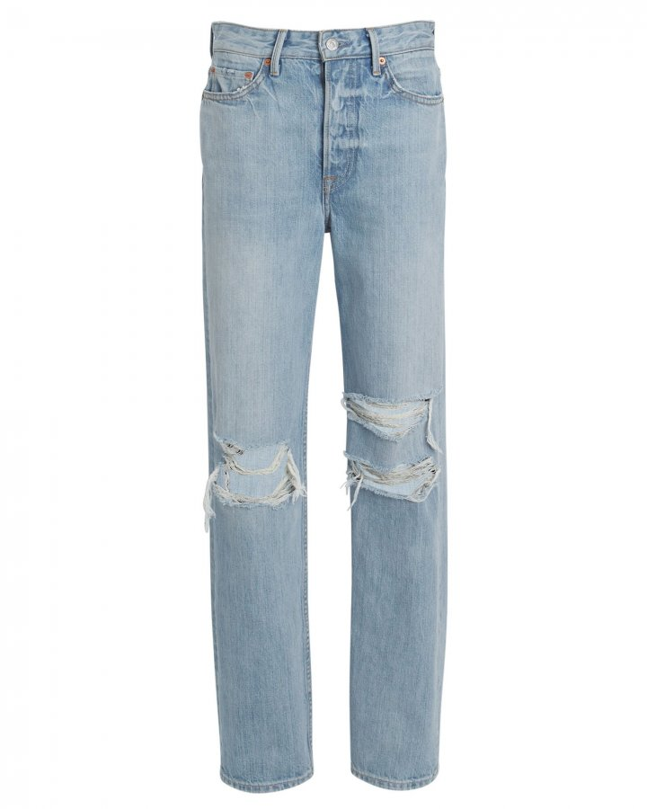Mica Distressed High-Rise Jeans