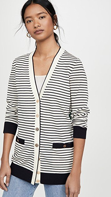 Striped Oversized Madeline Cardigan
