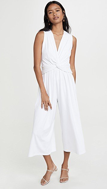 Twist Front Sleeveless Jumpsuit