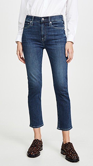 Elin High Rise Straight Crop Jeans