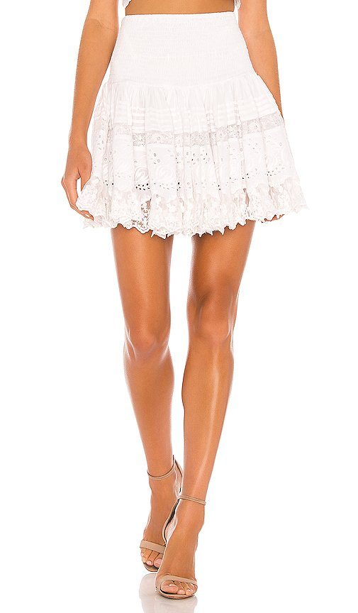 La Rotie Lace Smocked Mini Skirt