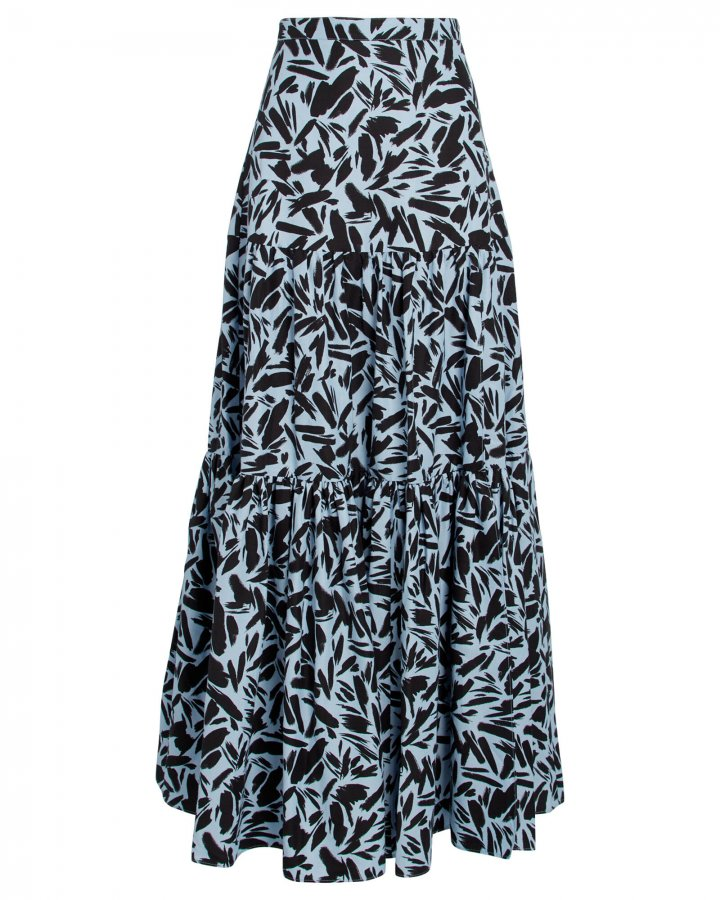 Serence Faille Maxi Skirt
