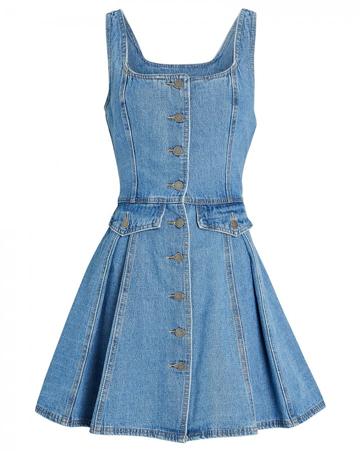 Peripheral Sleeveless Denim Dress