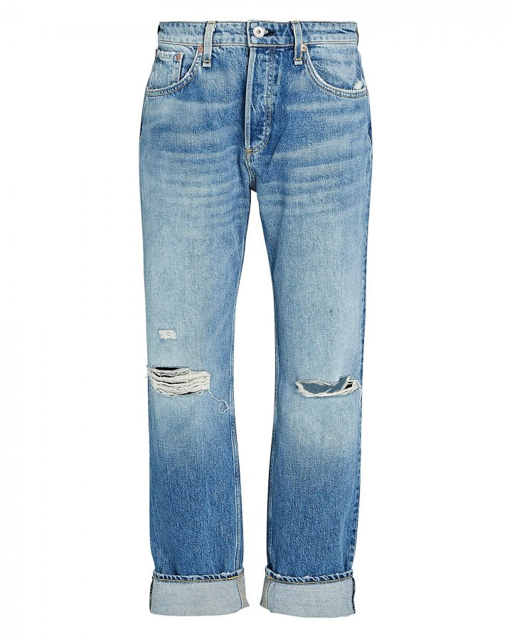 Rosa Distressed Boyfriend Jeans