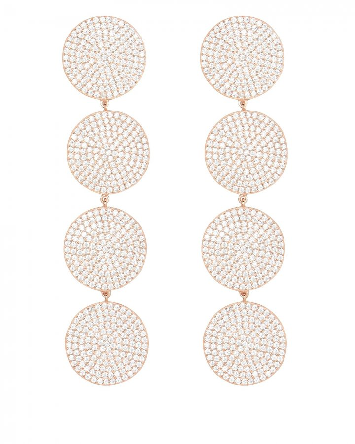 Teggy Rose Gold Earrings