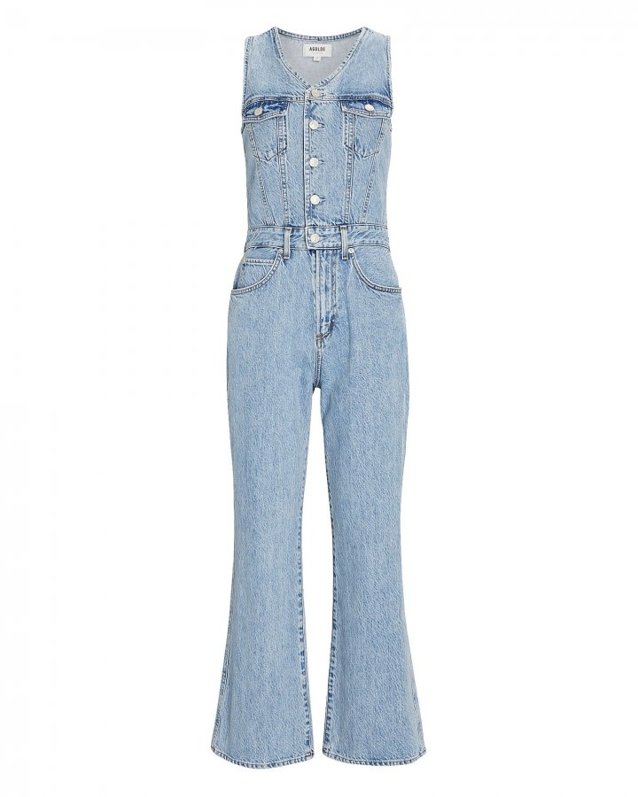 70s Trucker Denim Jumpsuit
