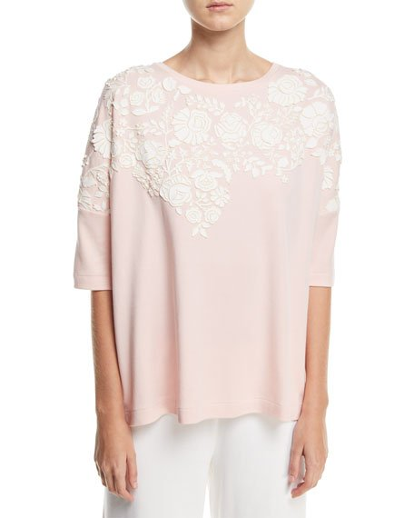 PETITE RELAXED BIG TEE WFLOR