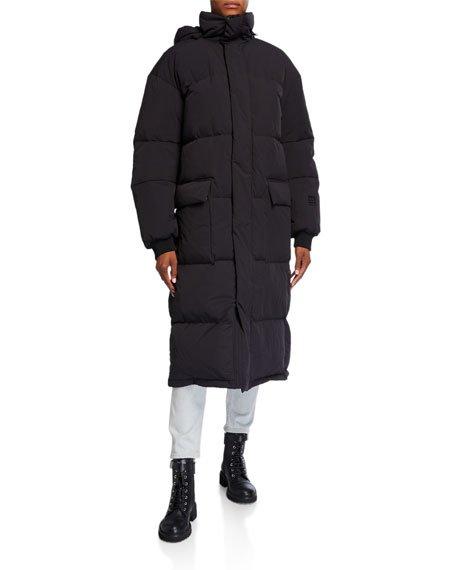 Askja Long Down Coat with Detachable Hood