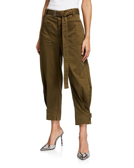 Slouchy Cotton Utility Pants