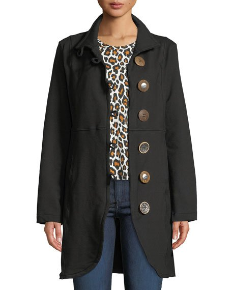 Plus Size Kaitlyn Oversized-Button Jacket