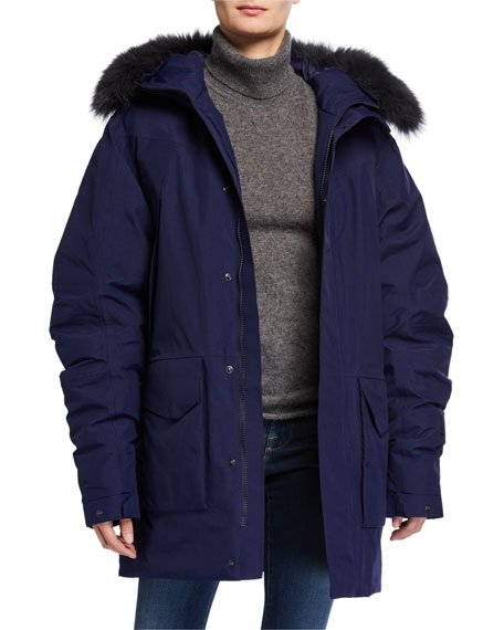 Drangajokull Fox Fur-Hooded Down Parka