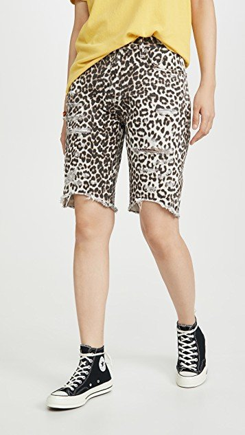 Cut Off Truckers Mid-Waist Long Length Shorts
