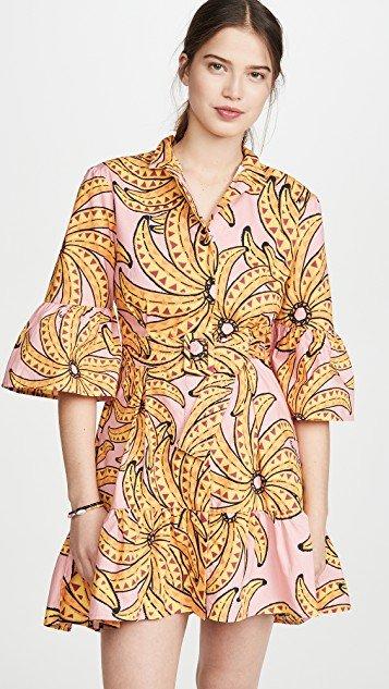 Banana Floral Mini Dress