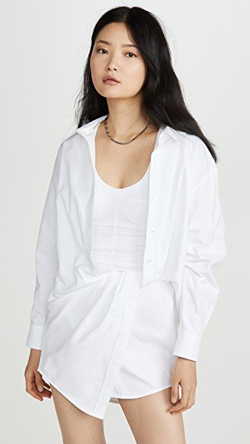 Falling Twist Shirt Dress