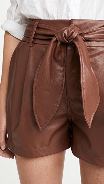 Lexi Pleated Belted Shorts