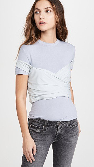 Viscose Stretch Wrap T-Shirt