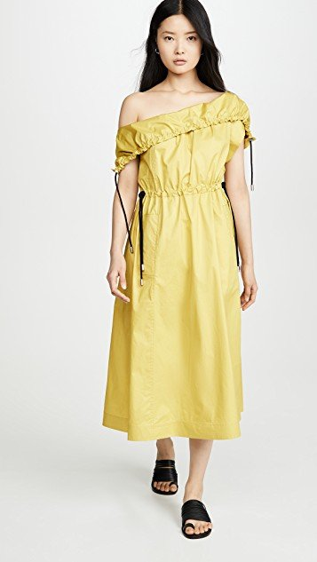 Cold Shoulder Parachute Utility Dress