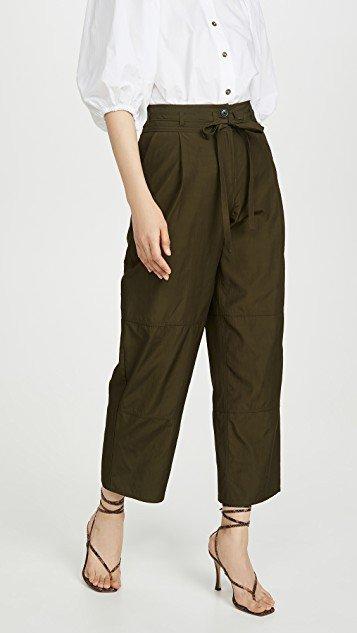 Cropped Workwear Pants