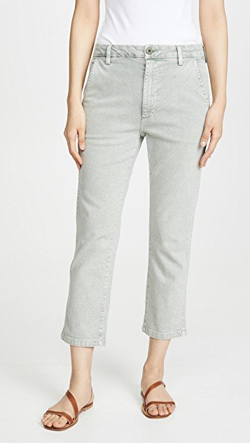 Easy Relaxed Crop Straight Trousers