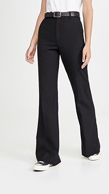 Bootcut Back Slit Trousers