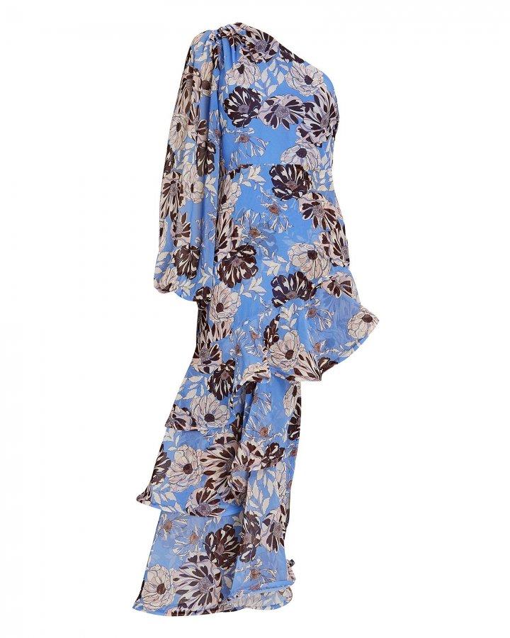 Abanna Floral One-Shoulder Dress